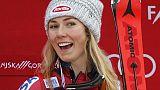 Alpine skiing - Irrepressible Shiffrin wins eighth race of the season