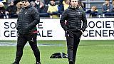 XV de France: l'entraîneur de Lyon Pierre Mignoni évoque un départ de Sébastien Bruno