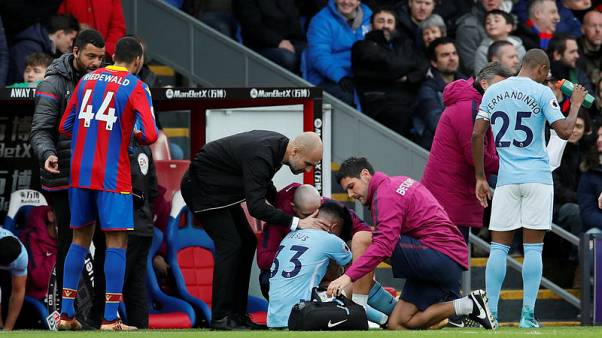 Jesus comes off injured early at Palace