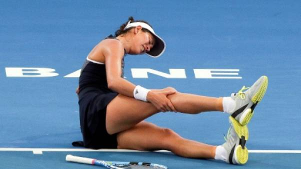 Tennis: victime de crampes, Muguruza abandonne à Brisbane