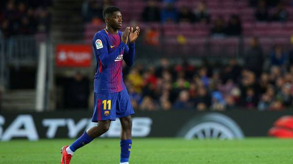 Frustrated Dembele finally able to get stuck in at Barcelona