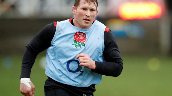 Rugby Union - England Training - Brighton College, Brighton, Britain - January 2, 2018    England's Dylan Hartley during training   Action Images via Reuters/Andrew Boyers