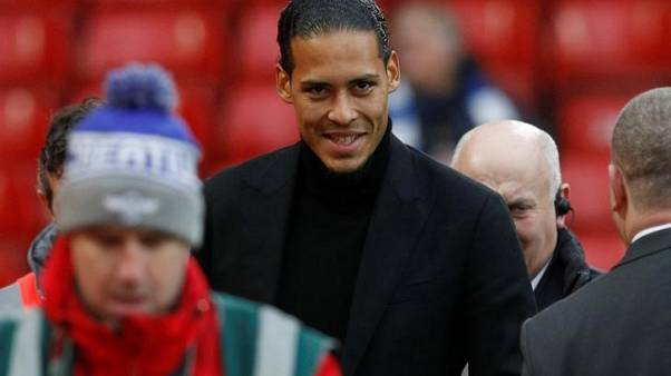 Liverpool's Van Dijk primed for derby debut in cup