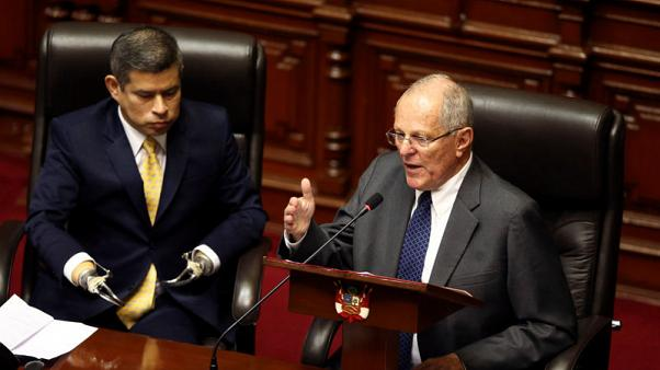 Peru's president tells Congress democracy at stake if ousts him