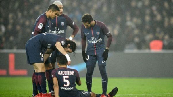 """Coupe de France/PSG: """"petite blessure"""" pour Marquinhos, les autres joueurs """"sont bien"""" selon Emery"""