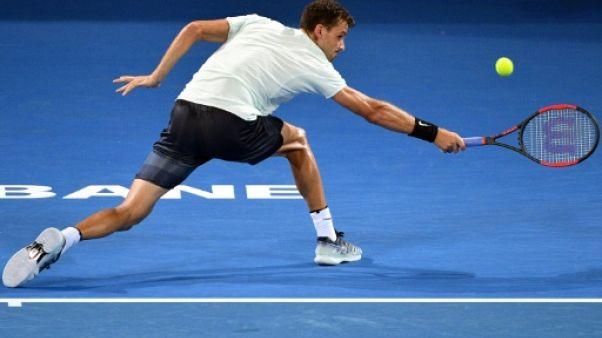 Tennis: Dimitrov se hisse difficilement en demi-finales à Brisbane