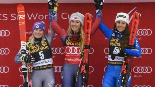 Ski alpin: Worley abonnée à la 2e place, derrière l'inaccessible Shiffrin