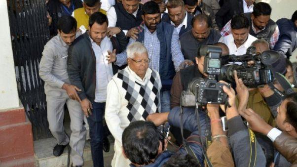Inde: une figure de l'opposition en prison pour corruption