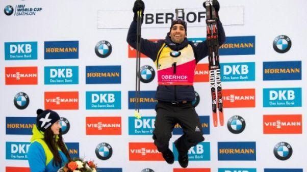Biathlon: coup double pour Fourcade