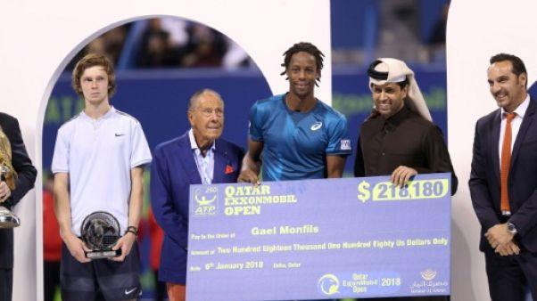 Tennis: victoire et 7e titre pour Gaël Monfils à Doha