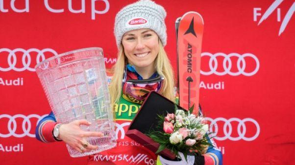Ski alpin: 40e rugissante pour Shiffrin, toujours sur son nuage