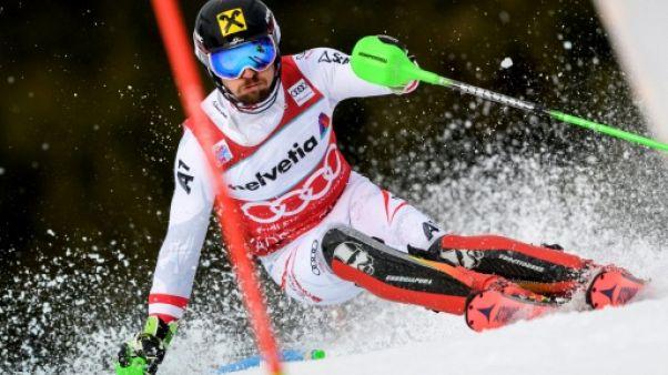 Ski alpin: Hirscher en tête, Pinturault 5e de la 1re manche du slalom d'Adelboden