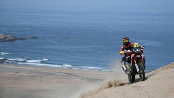 Dakar-2018: Barreda (Honda) prend la tête du général en moto