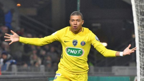 Coupe de France: le PSG étrille Rennes 6-1 et se qualifie en 16e de finale