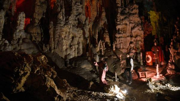 Behold the Christmas story - in a limestone cave