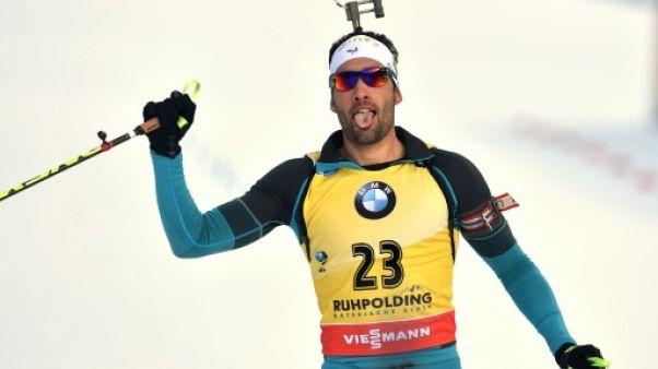 Biathlon: Martin Fourcade remporte l'Individuel de Ruhpolding