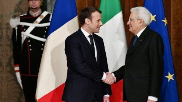 Macron à Rome pour évoquer migrations et avenir de l'Europe