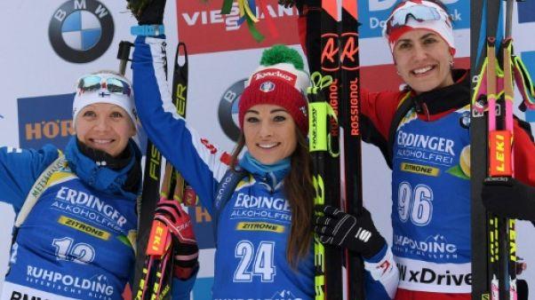 Biathlon: victoire de Dorothea Wierer, le Petit Globe pour Skardino