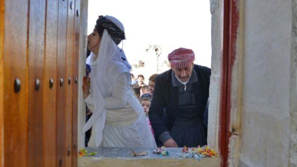 Irak: débarrassés de l'EI, des Yazidis ouvrent un nouveau temple