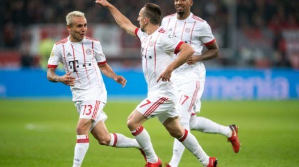 Allemagne: Munich ouvre 2018 par une victoire à Leverkusen