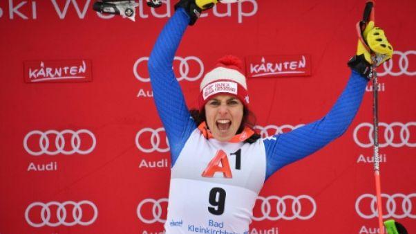 Ski: Brignone gagne le super G et monte en puissance, Gauthier 4e