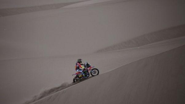 Dakar: la 3e pour Barreda, Van Beveren reprend le général en moto