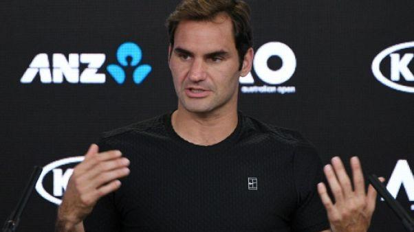 """Open d'Australie: """"à 36 ans, on ne peut pas être un favori"""", estime Federer"""