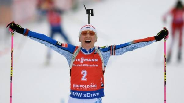Biathlon: Makarainen gagne la mass start de Ruhpolding et s'empare de la 1re place au général