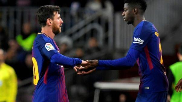 """Barcelone: Ousmane Dembélé, de nouveau blessé, absent """"trois à quatre semaines"""""""