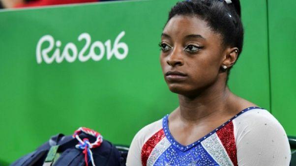 Gymnastique: la star Simone Biles s'ajoute à la longue liste des victimes sexuelles du Dr Nassar