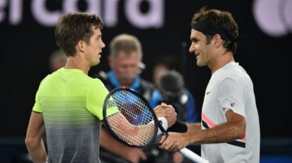 Open d'Australie: Roger Federer en toute décontraction