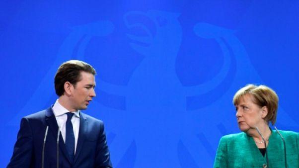 Quotas de réfugiés : Merkel et Kurz affichent leurs divergences