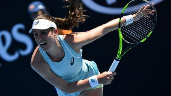 """Open d'Australie: Konta, 10e mondiale, éliminée par une """"lucky loser"""""""