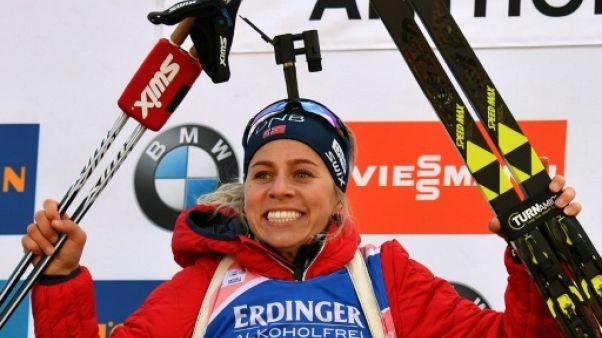 Biathlon: Eckhoff remporte le sprint d'Anterselva, Bescond 5e
