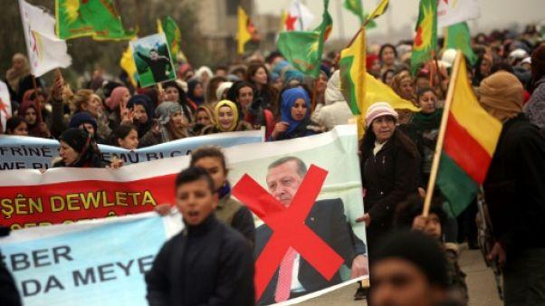 Syrie: grandes manifestations en territoires kurdes contre Ankara