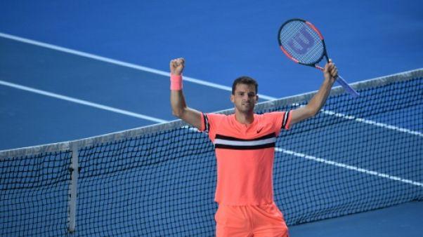 Open d'Australie: Dimitrov souffre encore mais passe en huitièmes