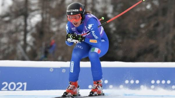 Ski: nouvelle victoire de l'Italienne Goggia en descente à Cortina