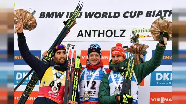 Biathlon: Fourcade encore battu au sprint par Boe