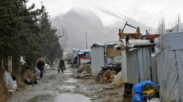 Liban: dix réfugiés syriens meurent dans une tempête de neige