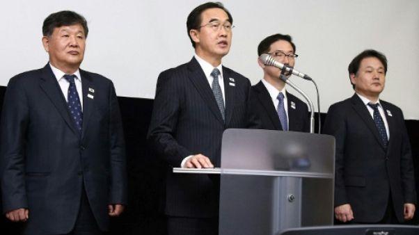 Séoul interroge Pyongyang sur la suspension de la visite d'une délégation