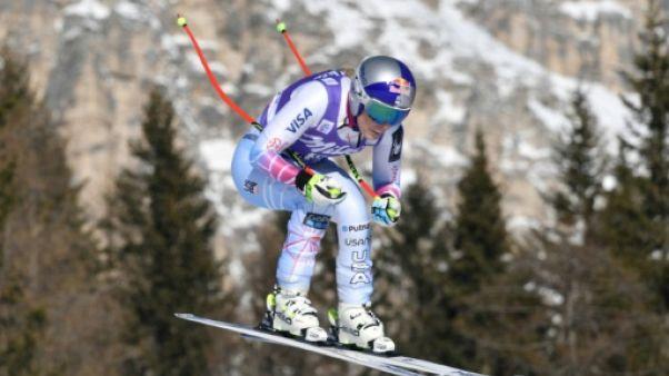 Ski: Lindsey Vonn décroche sa 79e victoire lors de la descente à Cortina