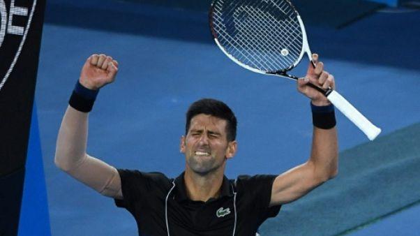 Open d'Australie: Novak Djokovic qualifié pour les 8e de finale
