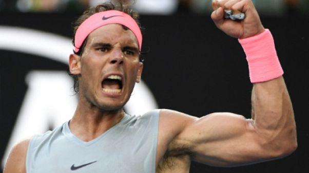 Open d'Australie: Rafael Nadal accroché mais qualifié pour les quarts