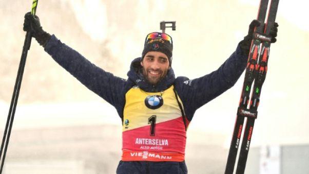 Biathlon: l'éclatante revanche de Martin Fourcade à Anterselva