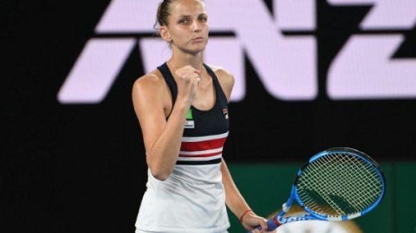 Open d'Australie: Karolina Pliskova prend le quart avec Halep