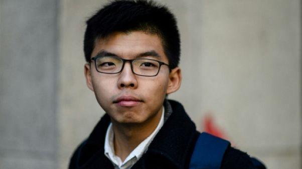 Hong Kong: le militant prodémocratie Joshua Wong libéré sous caution