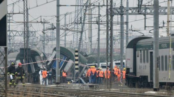 Italie: trois morts dans le déraillement d'un train près de Milan