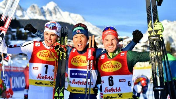 Combiné nordique: le Japonais Watabe remporte la 1re étape à Seefeld