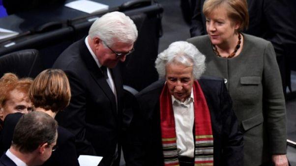 """Au Parlement allemand, une survivante d'Auschwitz dénonce le """"virus"""" antisémite"""
