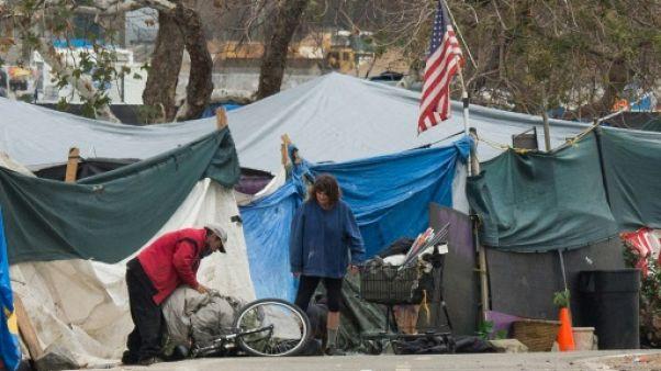 En Californie, angoisse dans un campement de SDF avant une évacuation forcée